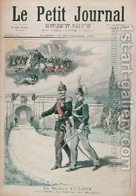 The Triple Alliance illustration from Le Petit Journal 1893 by Henri Meyer - Reproduction Oil Painting