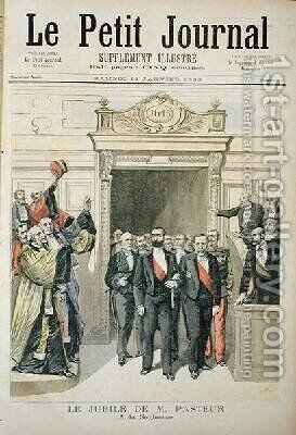 The Jubilee of Louis Pasteur 1822-95 at the Sorbonne 27th December 1892 from Le Petit Journal 14th January 1893 by Henri Meyer - Reproduction Oil Painting