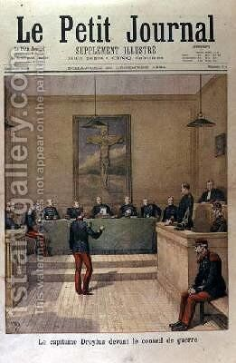 Captain Dreyfus 1859-1935 before the Court Martial cover of Le Petit Journal 23rd December 1894 by Henri Meyer - Reproduction Oil Painting