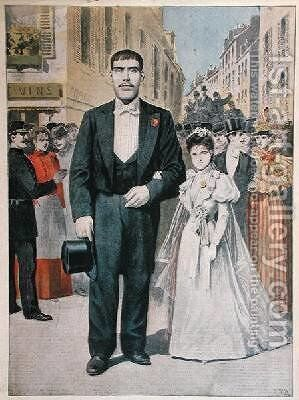 The Marriage of a Giant from Le Petit Journal 1897 by Henri Meyer - Reproduction Oil Painting