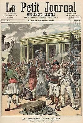 Bandits in the Orient Arrests on a Train from Le Petit Journal 20th June 1891 by Henri Meyer - Reproduction Oil Painting