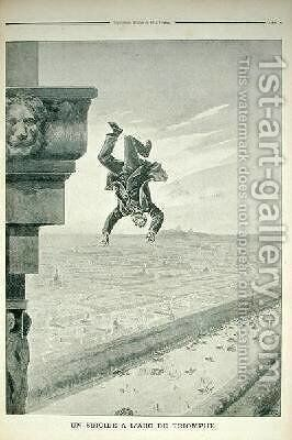 A Suicide at the Arc de Triomphe from Le Petit Journal by Henri Meyer - Reproduction Oil Painting