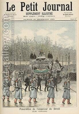 The Funeral of the Emperor of Brazil The Carriage from Le Petit Journal 26th December 1891 by Henri Meyer - Reproduction Oil Painting