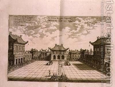 Inside the Imperial Palace from an account of a Dutch Embassy to China 1665 by Jacob van Meurs - Reproduction Oil Painting