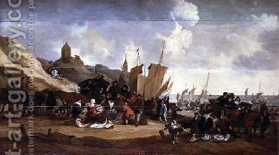 The Fish Market by Cornelius Hubert Van Meurs - Reproduction Oil Painting