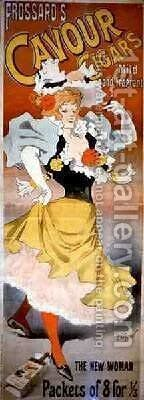 Poster advertising Frossards Cavour Cigars by Henri Georges Jean Isidore Meunier - Reproduction Oil Painting