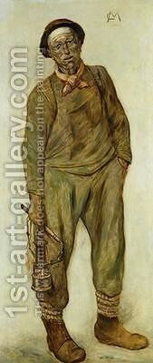 A Miner by Constantin Meunier - Reproduction Oil Painting