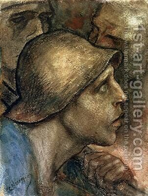 Head of a Worker by Constantin Meunier - Reproduction Oil Painting