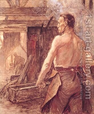 Foundry Worker by Constantin Meunier - Reproduction Oil Painting