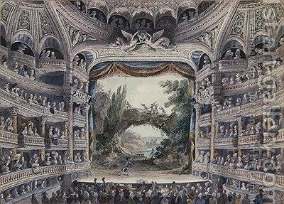 The Comedie Francaise by Meunier - Reproduction Oil Painting