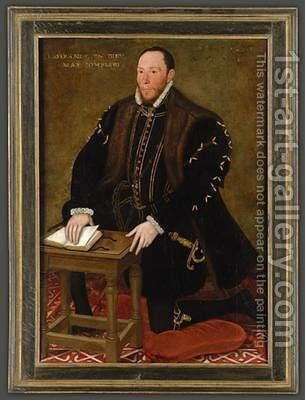 Portrait of the Blessed Thomas Percy 7th Earl of Northumberland by Steven van der Meulen - Reproduction Oil Painting