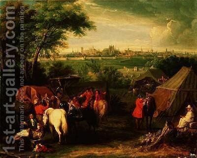 The Siege of Tournai by Louis XIV by Adam Frans van der Meulen - Reproduction Oil Painting