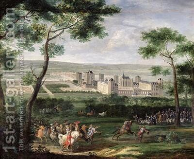 View of the Chateau de Vincennes 1665 by Adam Frans van der Meulen - Reproduction Oil Painting