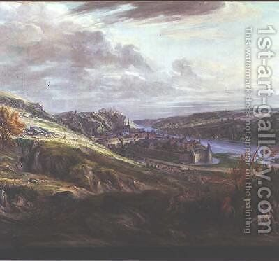 The Siege of the Chateau and Town of Dinant by Adam Frans van der Meulen - Reproduction Oil Painting