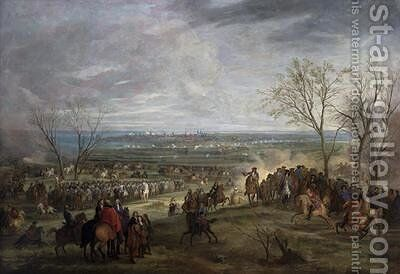 The Siege of Valenciennes 1677 by Adam Frans van der Meulen - Reproduction Oil Painting