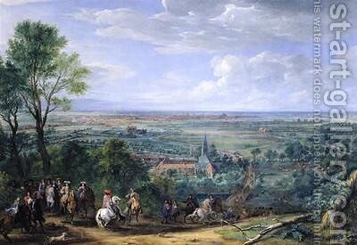 Louis XIV 1638-1715 at the Siege of Lille facing the Priory of Fives August 1667 by Adam Frans van der Meulen - Reproduction Oil Painting