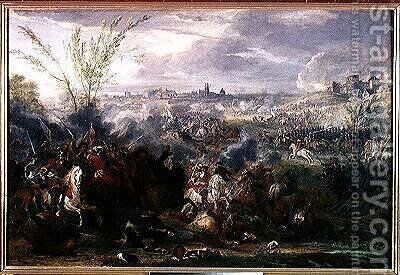 Study for Siege of a Flemish Town by Adam Frans van der Meulen - Reproduction Oil Painting