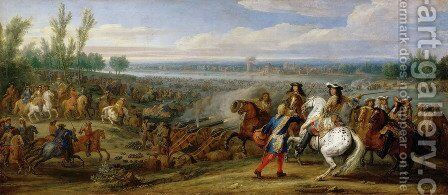 The Crossing of the Rhine 12th June 1672 2 by Adam Frans van der Meulen - Reproduction Oil Painting