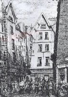 The Rue Pirouette 1860 by Charles Meryon - Reproduction Oil Painting