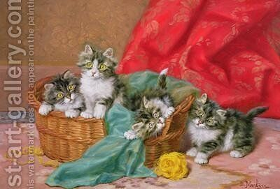 Mischievous Kittens by Daniel Merlin - Reproduction Oil Painting