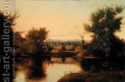 Hanging Hills of Menden 1866 by Nelson Augusta Merida - Reproduction Oil Painting