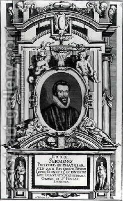 Frontispiece to Eighty Sermons Preached by that Learned and Reverend Divine John Donne by Matthaus, the Younger Merian - Reproduction Oil Painting