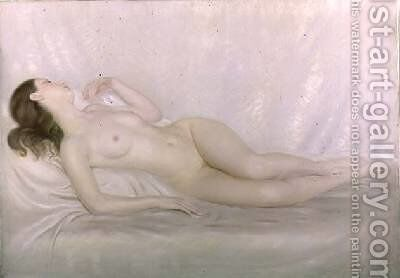 Reclining Nude 1931 by Edward Stanley Mercer - Reproduction Oil Painting