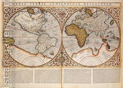 Double Hemisphere World Map 1587 2 Painting By Gerard Mercator