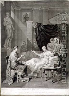 The Interview of Augustus and Cleopatra engraved by Richard Earlom by (after) Mengs, Anton Raphael - Reproduction Oil Painting