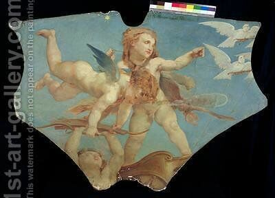 Putti Carrying the Attributes of Venus after Paul Baudry by Charles August Mengin - Reproduction Oil Painting