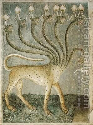 The seven-headed beast coming from the sea 1360-70 by Giusto di Giovanni de' Menabuoi - Reproduction Oil Painting