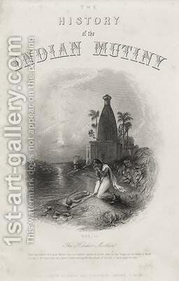 The Hindoo Mother engraved by EJ Portbury Title page from The History of the Indian Mutiny by (after) Melville, Harden Sidney - Reproduction Oil Painting