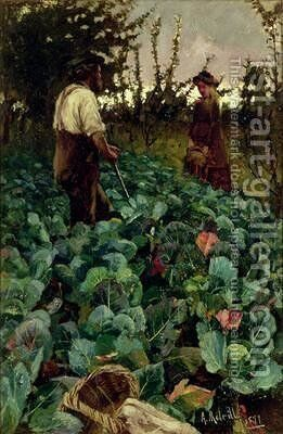 Cabbage Garden 1877 by Arthur Melville - Reproduction Oil Painting