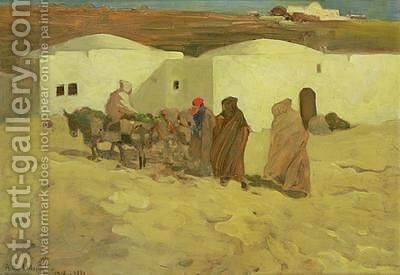 A Scene in Tunis 1899 by Arthur Melville - Reproduction Oil Painting