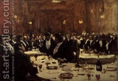 Company at Dinner by Arthur Melville - Reproduction Oil Painting
