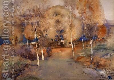 Autumn Loch Lomond 1893 by Arthur Melville - Reproduction Oil Painting