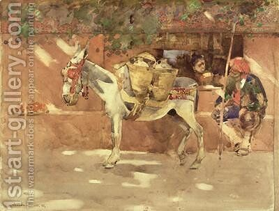 A Byway in Granada 1891 by Arthur Melville - Reproduction Oil Painting