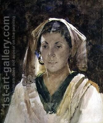 Woman of Aragon by Arthur Melville - Reproduction Oil Painting