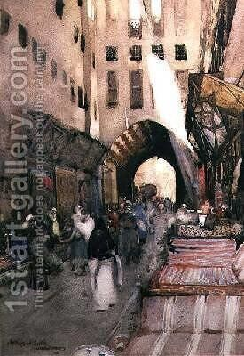 A Turkish Bazaar by Arthur Melville - Reproduction Oil Painting
