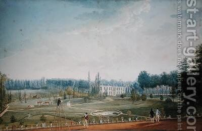 Chateau and Park of Ris-Orangis 1811 by Anton Ignaz Melling - Reproduction Oil Painting
