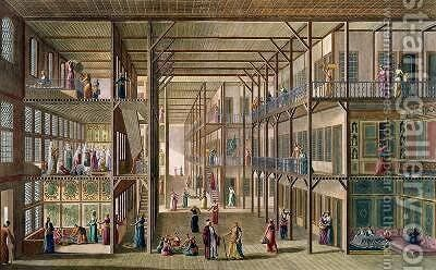 Interior of the Harem of the Great Lord of Constantinople by Anton Ignaz Melling - Reproduction Oil Painting