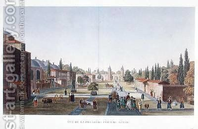 View of the Outer Courtyard of the Seraglio Topkapi Palace Constantinople by Anton Ignaz Melling - Reproduction Oil Painting