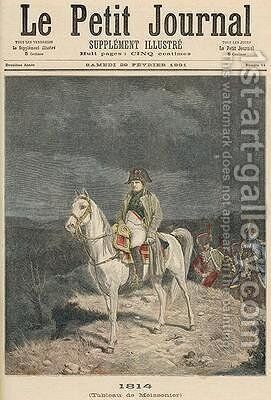 1814 from Le Petit Journal 28th February 1891 by (after) Meissonier, Jean-Louis Ernest - Reproduction Oil Painting
