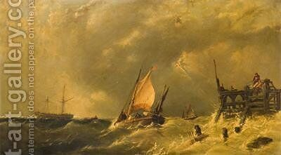 The Storm 1885 by James Edwin Meadows - Reproduction Oil Painting