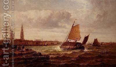 Antwerp on the Scheldt by Arthur Joseph Meadows - Reproduction Oil Painting