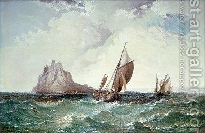St Michaels Mount Cornwall by Arthur Joseph Meadows - Reproduction Oil Painting