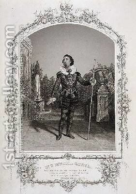 Mr W Davidge as Malvolio Act III Scene 4 of Twelfth Night from a daguerreotype by the Meade Brothers of New York by Charles R. and Henry W. Meade - Reproduction Oil Painting