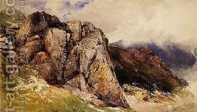 Mountain Rocks by David Hall McKewan - Reproduction Oil Painting