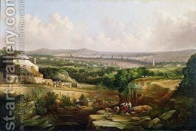 A View of Sheffield from Psalter Lane 1850 by J. McIntyre - Reproduction Oil Painting