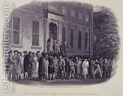 The Announcement of the Declaration of Independence illustrated in The Life of George Washington by J. McGoffin - Reproduction Oil Painting